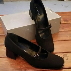 Black cloth Mary Janes
